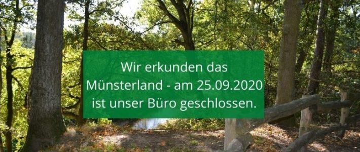 24.09.2020: Büro morgen nicht besetzt