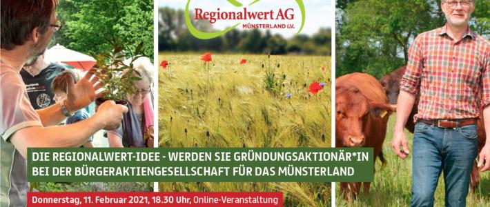11.02.2021: Wir werden Gründungsaktionär der Regionalwert Münsterland AG